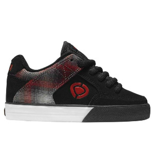 205 Vulc Kid's - Black/Ombre Red Plaid