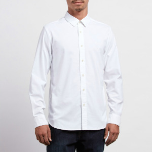 OXFORD STRETCH L/S - WHT