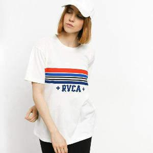 RETRO RVCA T-SHIRT - ANTIQUE WHITE