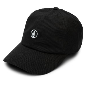 CIRCLE STONE DAD HAT - BLACK