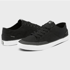 LEEDS CANVAS SHOE - BLACK WHITE