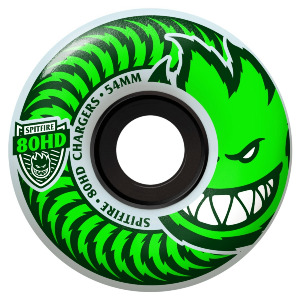 CHARGER CLASSIC - CLEAR/GREEN 56MM 80A