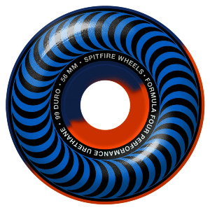 FORMULA FOUR CLASSIC - BLUE/ORANGE 50/50 SWIRL 56MM 99A