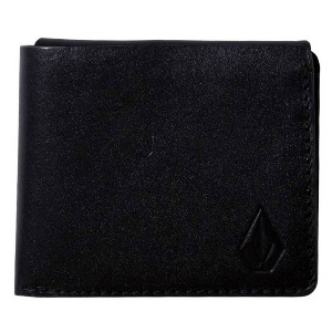 3FOLD LEATHER WALLET - BLACK