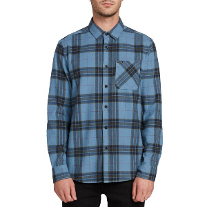 CADEN PLAID L/S - BLUE RINSE