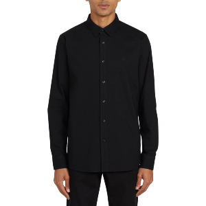 OXFORD STRETCH L/S - NEW BLACK