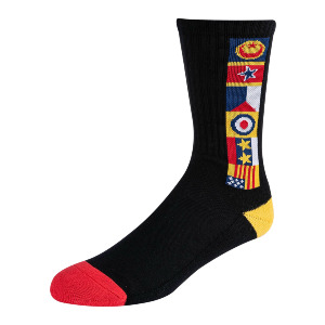 CHOCOLATE FLAGS CREW SOCK - BLACK