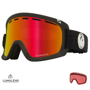 D1 OTG - BLACK/Lumalens RED IONIZED + Lumalens ROSE Lens