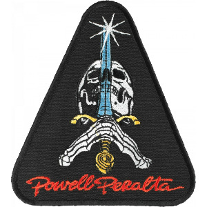 "PATCH POWELL PERALTA SKULL & SWORD 3.1/2"" - ASSORTED"