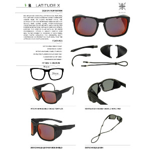 LATITUDE X - MATTE BLACK/LUMALENS INFARED IONIZED