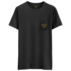 Insignia Pocket Tee - Black Brown/Washed