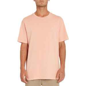 SOLID STONE EMB SS TEE - CLAY ORANGE